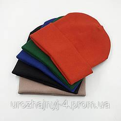 Шапка дитяча подвійна однотонна 52-54 код 3162 Glory-kids