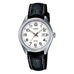 Жіночі наручні годинники кварцові круглі водостійкі 5 ATM гарантія 24 місяці Casio Collection