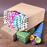 Крафт пакет с дном 320*150*380 бурий на винос без ручок, фото 6