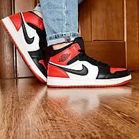 Баскетбольные женские кроссовки Nike Air Jordan / подростковые высокие кроссы Найк джордан (Топ реплика ААА+)