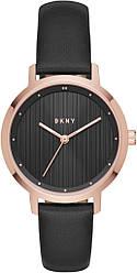 Жіночі наручні годинники кварцові круглі шкіряний ремінець гарантія 24 місяці DKNY2641