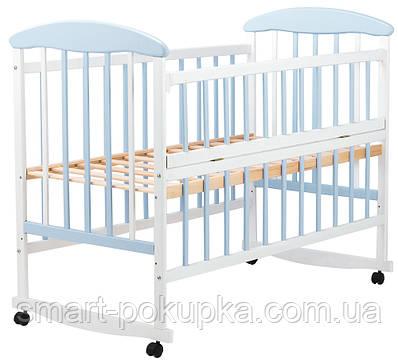 Ліжко Наталка ОБГО відкидний пліч вільха біло-блакитна