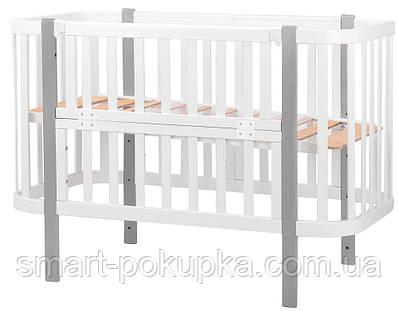 Ліжко Babyroom Місяць (120x60) білий - сірий