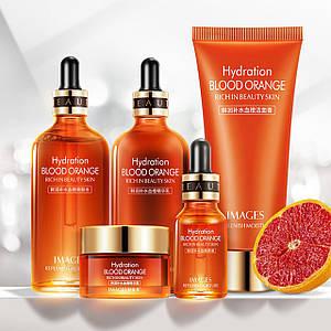 Подарунковий набір по догляду за обличчям Images Essence Blood Orange c екстрактом цитруса азіатська косметика