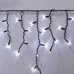 Гірлянда Вулична БАХРОМА 100 LED 4,5м*0,7м, чорний каучук 3.3мм