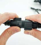 Гірлянда Вулична БАХРОМА 100 LED 4,5м*0,7м, чорний каучук 3.3мм, фото 4