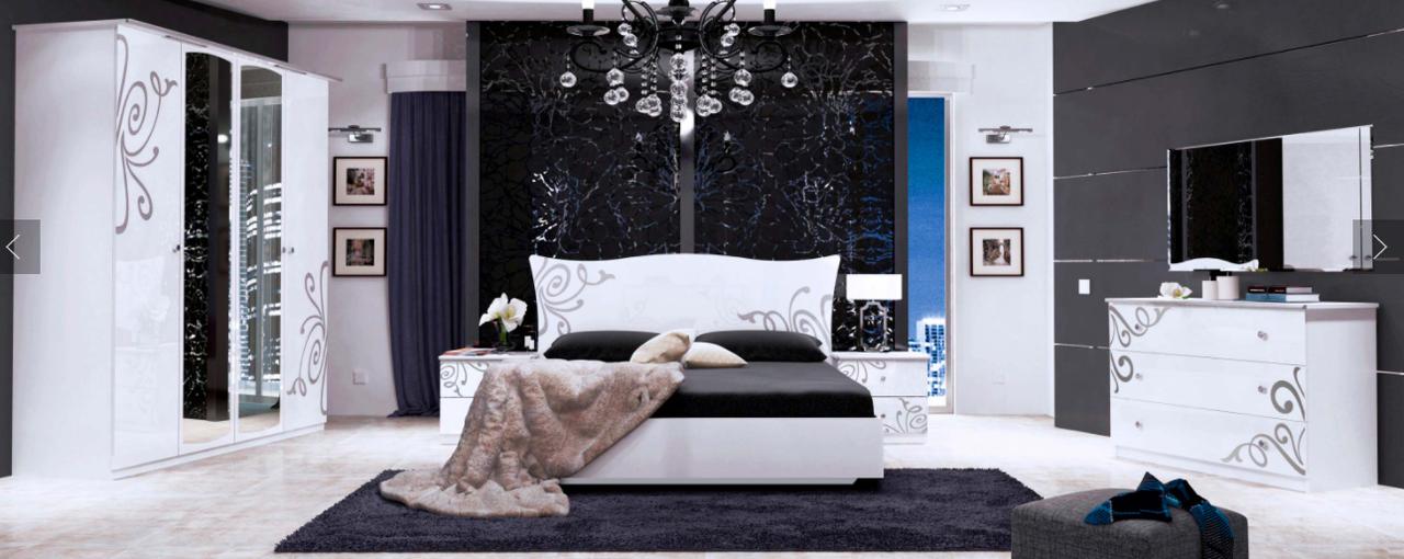 Спальня Богема (белый глянец)