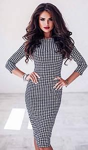 Платье MF219 Черно-белое S