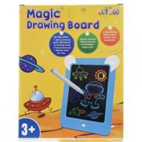 Досточка для рисования 5099  25-20см,свет,маркеры 4шт,салфетки,на бат-ке,в кор-ке, 21-26,5-3см