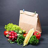 Паперовий пакет 320*150*380 мм з плоским дном для продуктів крафт бурий, фото 2