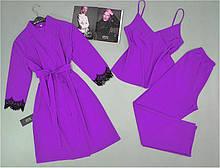 Домашня одяг жіноча. Комплект халат, піжама ( майка+штани).