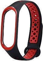 Оригинальный ремешок для Xiaomi Mi Band 3/4 black/red Nike