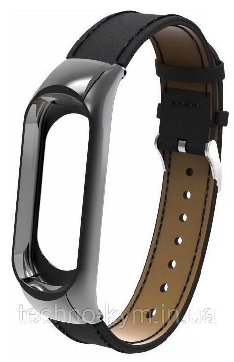 Ремешок Xiaomi Mi Band 3 Leather black