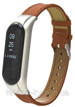 Ремінець Xiaomi Mi Band 3 Leather brown