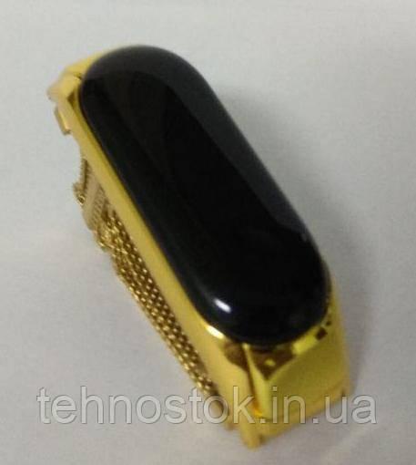 ОРИГІНАЛЬНИЙ сталевий ремінець для Xiaomi Mi Band 3 - Milanese Design gold