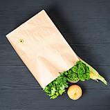 Крафт пакет з широким дном 260*150*350 мм для їжі з собою, фото 4