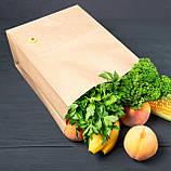 Крафт пакет з широким дном 260*150*350 мм для їжі з собою, фото 5