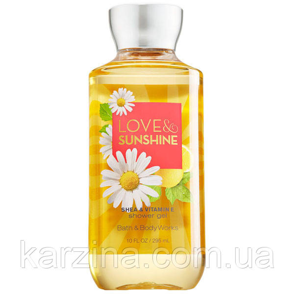 Гель для душа Bath & Body Works Shower gel Love & Sunshine  лимон и клубника