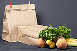 Пакет бумажный фасовочный 260*150*350 мм с плоским дном, фото 2