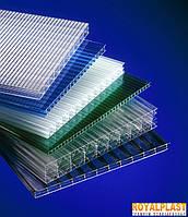 Поликарбонат сотовый ROYALPLAST 6 мм (цветной)
