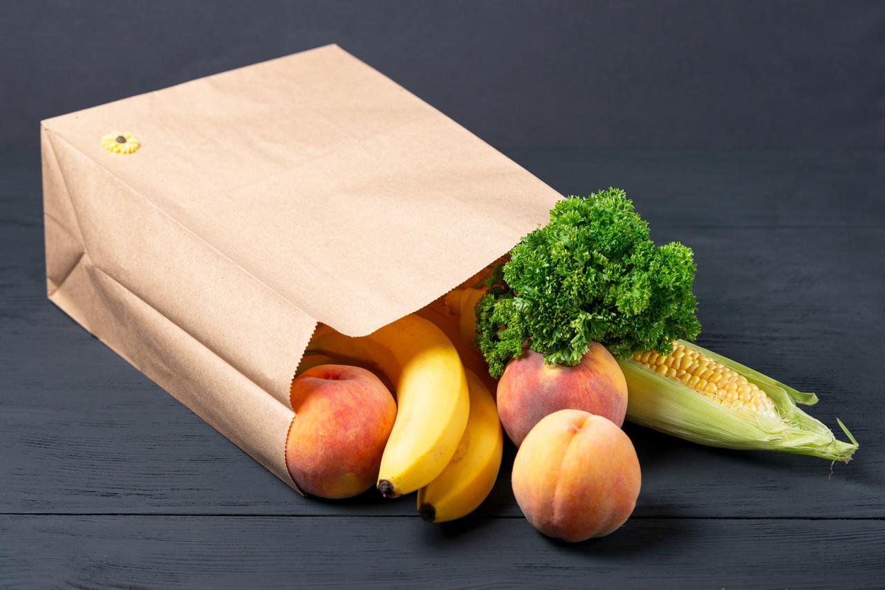 Пакет бумажный фасовочный 260*150*350 мм с плоским дном