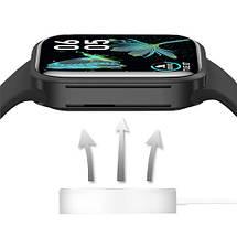 Смарт годинник Z36 голосовий виклик, Розумний спортивний фітнес трекер з тонометром, термометром, Чорний, фото 3