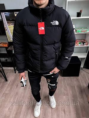 Куртка мужская зимняя черная Норд Фейс  на пуху теплая