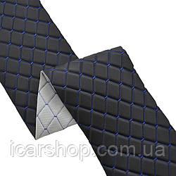 Кожзаменитель 270 Черный (1,35м) / На пар.5мм / Ромб / Прошитый (м2)