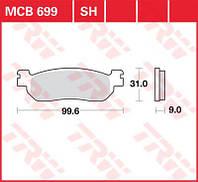 FERODO FDB2083P Тормозные колодки(LUCAS MCB699)