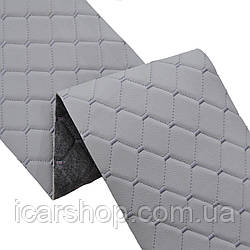 Ткань 795 Серый (1,4м) / На пар.2мм и войлок / Ромб / Прошитый (м2)