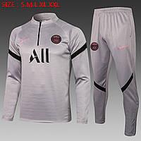 Тренировочный костюм ПСЖ серый сезон 2022
