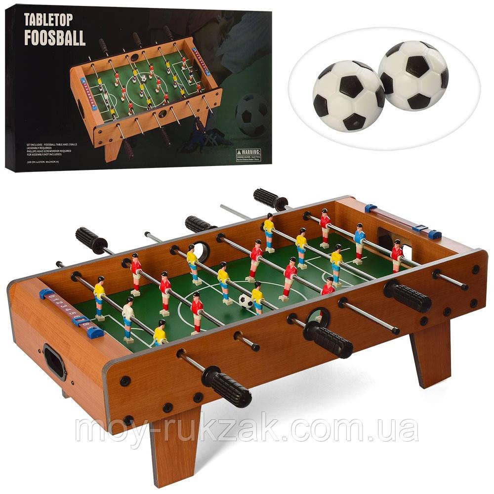 Дитячий ігровий Футбол, дерев'яний, на штангах зі шкалою ведення рахунку 69*37*24 см, 780