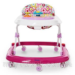 Детская каталка-ходунки, интерактивные, музыкальные, с игровой панелью, El Camino, ME 1049 HAPPY Pink, фото 2
