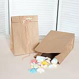 Паперовий пакет з плоским дном 150*90*240 мм крафт пакет, упаковка 500 штук, фото 2