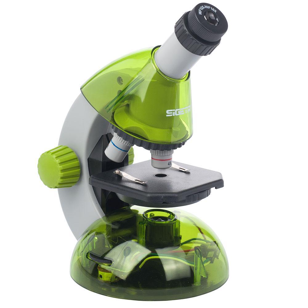 Мікроскоп SIGETA MIXI 40x-640x GREEN (з адаптером для смартфона)
