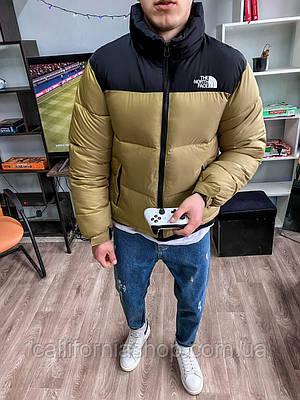 Куртка пуховик мужская зимняя теплая с капюшоном короткая