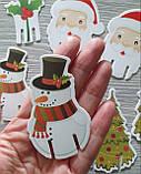 Набор новогодних украшений для бокалов/стаканов - 10 шт, фото 3