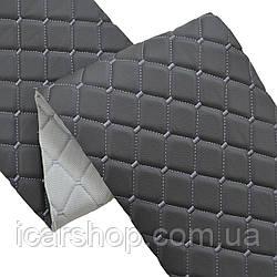 Шкірзамінник  600 Темно-сірий (1,35м)/На пар.5мм /Ромб/Прошитий (м2)