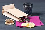Бумажный пакет с плоским дном 95*65*190 мм для орехов, сухофруктов, цукатов, фото 6