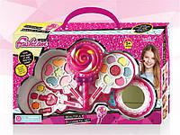 Набор косметики для девочек Карамелька детские блестки, набор теней для детей, румяна в комплекте
