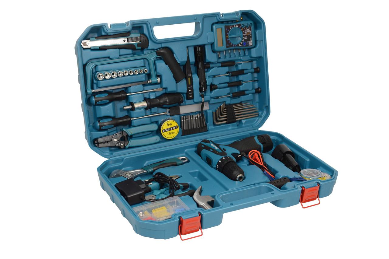 Акумуляторний шуруповерт MAKITA DF 330 DWE і набір інструментів з вольтметром в кейсі (Шуруповерт Макіта)