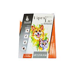 Краплі Фипро-Люкс протипаразитарні для котів вагою від 1,5-4 кг 0,5 мл 1 шт