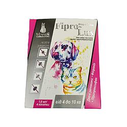 Капли Фипро-Люкс противопаразитарные для собак весом от 4 -10кг 1 мл 1 шт
