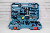 Акумуляторний шуруповерт MAKITA DF 330 DWE і набір інструментів з вольтметром в кейсі (Шуруповерт Макіта), фото 2