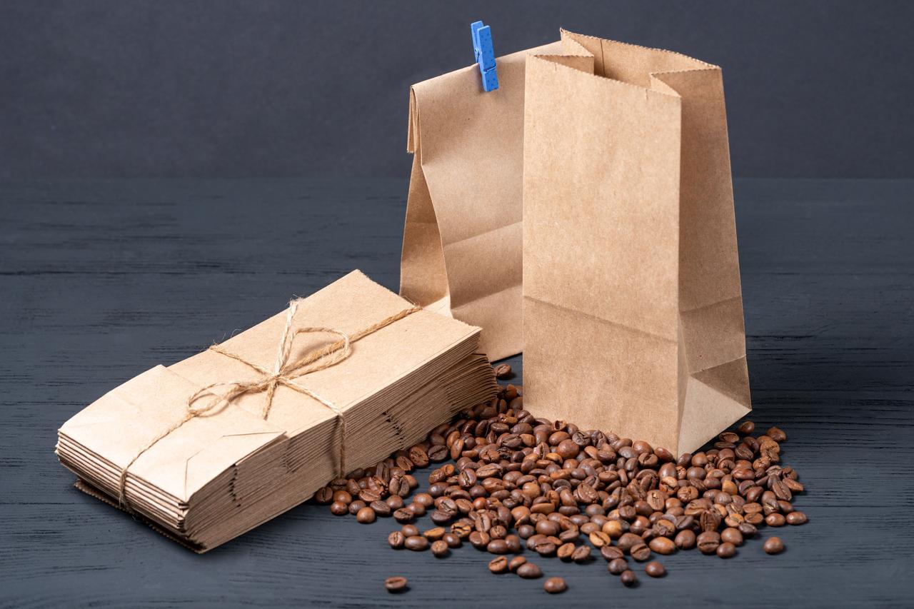 Пакет бумажный для чая и кофе 95*65*190 мм, упаковка 500 штук