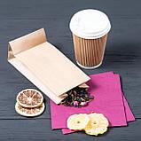 Бумажный пакет для чая и кофе с дном крафт бурый 95*65*190 мм, фото 2