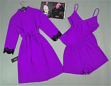 Халат майка шорти жіночий комплект домашньої одягу.