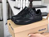 Подростковые, демисезонные кроссовки Reebok Workout Classic,черные, фото 2