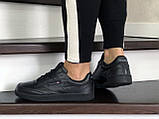 Подростковые, демисезонные кроссовки Reebok Workout Classic,черные, фото 4