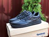 Подростковые, демисезонные кроссовки Reebok Workout Classic,черные, фото 6